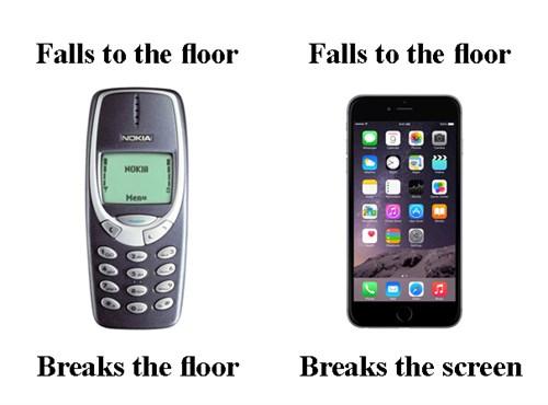 Puhelimet ennen ja nyt