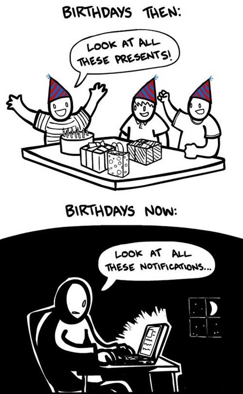 Syntymäpäivät ennen ja nyt