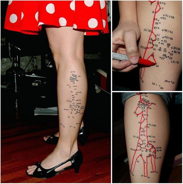 Pisteestä pisteeseen tatuointi