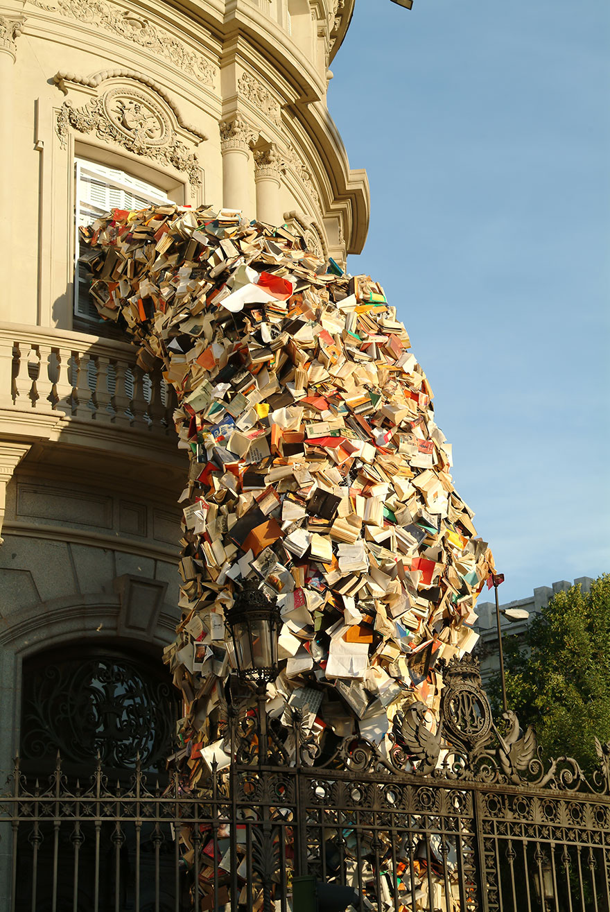 Alicia Martininin Falling Book Sculpture